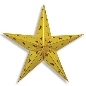 24-Inch Gold Dimensional Foil Star