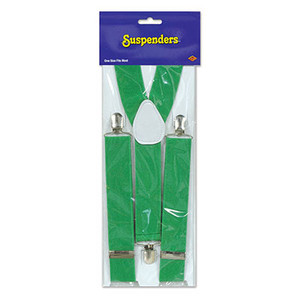 Green Adjustable Suspenders