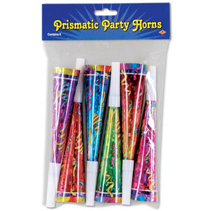 8-Inch Prismatic Party Horns