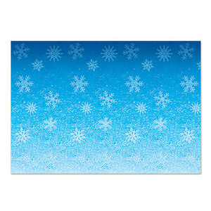 Blue and White Snowflakes Backdrop
