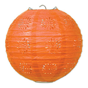 Lace Paper Lanterns - Orange