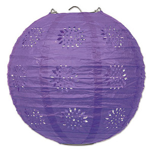 Lace Paper Lanterns - Purple