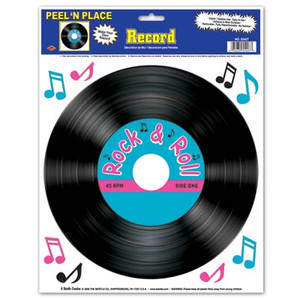 Record Peel N Place Decorations
