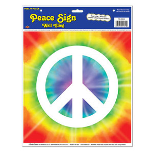 Peace Sign Peel 'N Place Wall Cling Party
