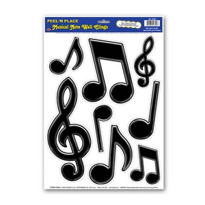 Musical Notes Peel 'N Place