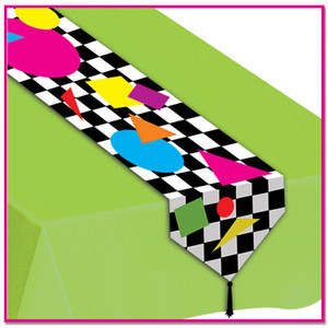 Printed Party Shapes Table Runner