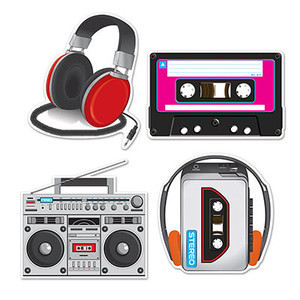 Cassette Player Cutouts Party Decorations
