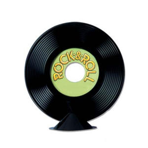 Personalized Plastic Record Centerpiece