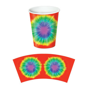 Tie-Dyed Beverage Cups