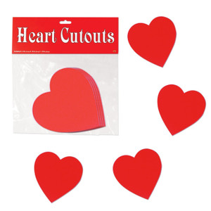 Packaged Printed Heart Cut-Outs
