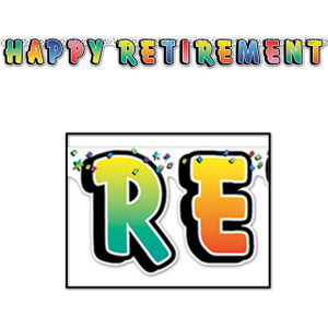 Happy Retirement Streamer