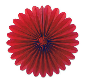 Mini Tissue Fans - Red