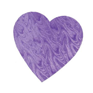"4"" Embossed Foil Heart Cutout - Purple"
