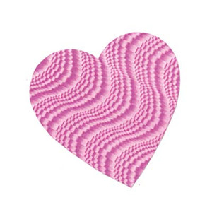"8-1/2"" Embossed Foil Heart Cutout - Pink"