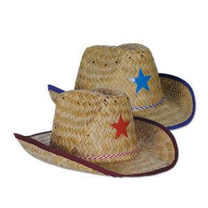 Child Cowboy Hats w/Star & Chin Strap