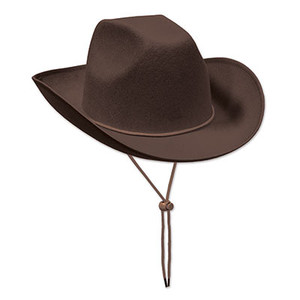 Brown Felt Cowboy Hat