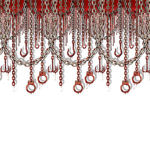Bloody Chains & Hooks Backdrop