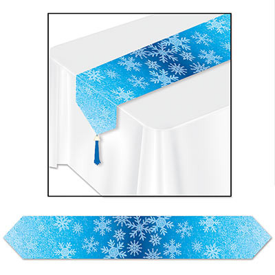 Printed Snowflakes Table Runner