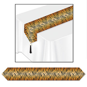 Printed Tiger Print Table Runner