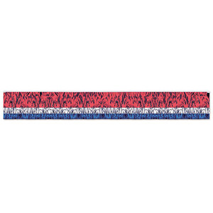 3-Ply FR Metallic Fringe Drape (Red/Silver/Blue)