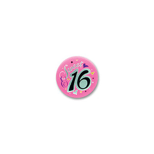Sweet 16  Satin Button