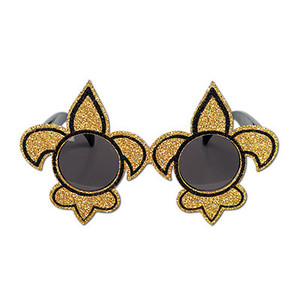 Glittered Fleur De Lis Fanci-Frames(Black/Gold)
