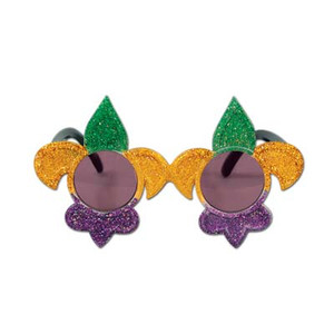 Glittered Fleur De-Lis Fanci-Frames(Green/Gold/Purple)