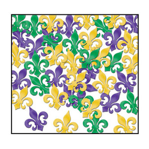 Fanci-Fetti Fleur De Lis (Gold/Green/Purple)