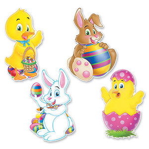 Pkgd Easter Cutouts 14""