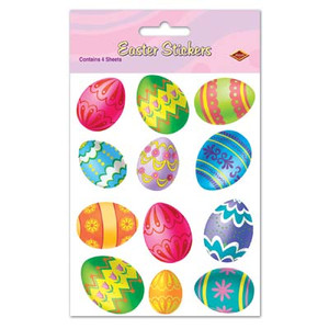 Color Bright Easter Egg Stickers