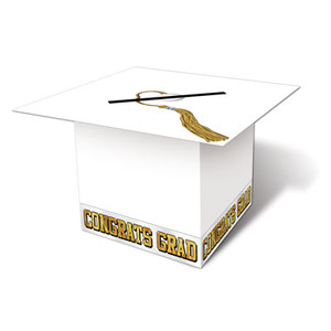Grad Cap Card Box-White