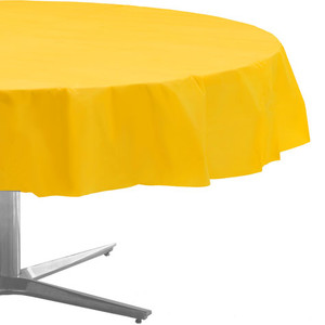 Yellow Round Tablecover 84""