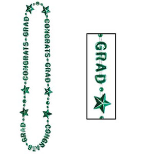 Congrats Grad Beads-Of-Expression-Green