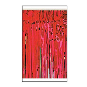 1-Ply FR Metallic Fringe Drape-Red