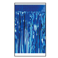 1-Ply FR Metallic Fringe Drape-Blue