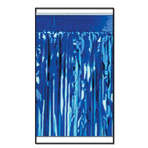 2-Ply FR Metallic Fringe Drape-Blue
