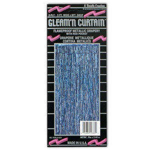 1-Ply FR Gleam 'N Curtain-Blue