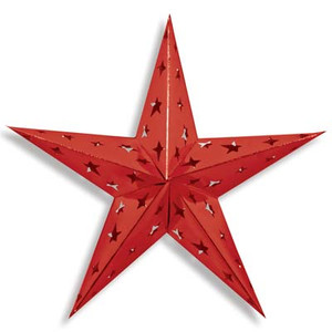 "24"" Dimensional Foil Star-Red"