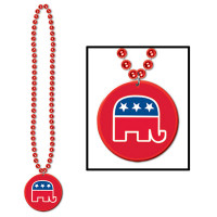 Beads w/Republican Candidate Donald Trump Medallion
