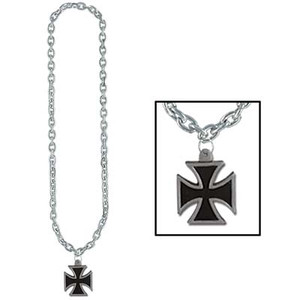 Chain Beads w/Iron Cross Medal
