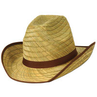 Adult Cowboy Hat w/Brown Trim & Band