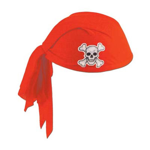 Pirate Red Scarf Hat