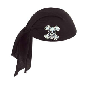 Pirate Black Scarf Hat