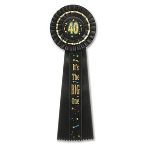 40 It's The Big One Deluxe Rosette