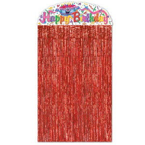 Birthday Cake Character Curtain