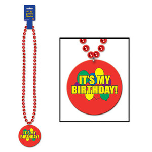 Beads w/It's My Birthday! Medallion