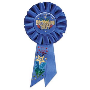 Birthday Boy Rosette - Blue