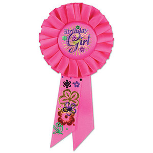 Birthday Girl Rosette - Pink