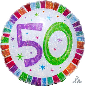 Radiant Birthday 50 Balloon