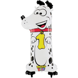 Mighty Number 1 Shaped Dog Balloon